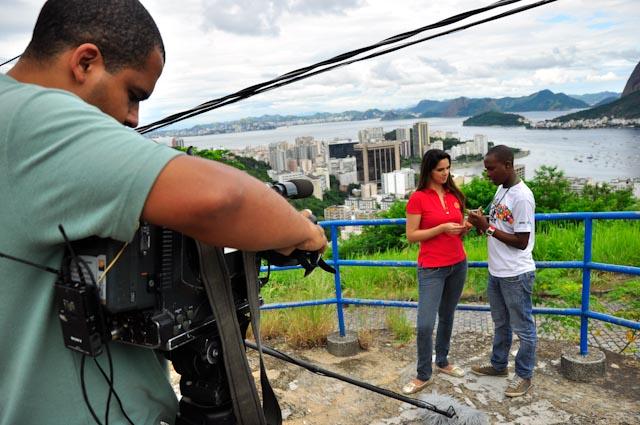 Gilson es el protagonista de un reportaje para TV Record