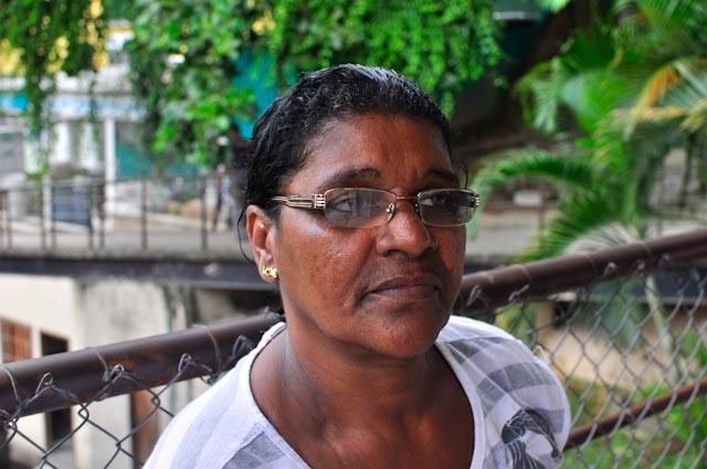 Eva llegó con los primeros moradores a la favela