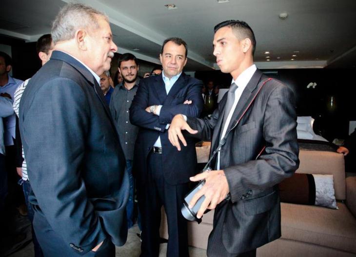 Bruno Itan con el ex presidente Lula