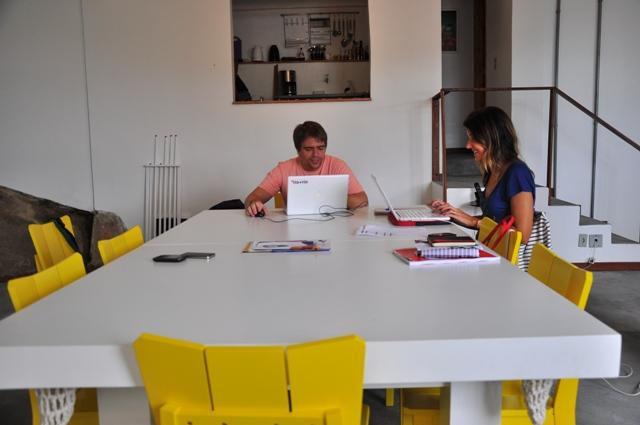 En la oficina de Rio + Rio