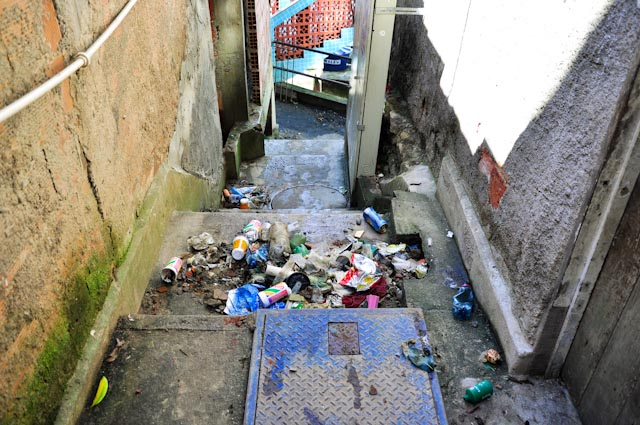 Parece que un tsunami arrasó la favela