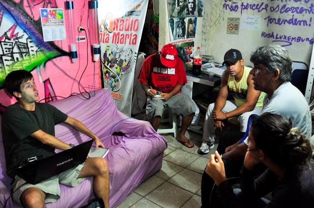 En la sede de la radio Santa Marta