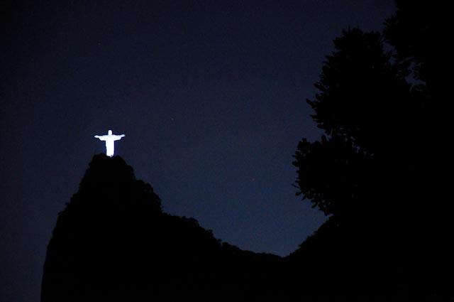 El Cristo Redentor visto desde Santa Marta