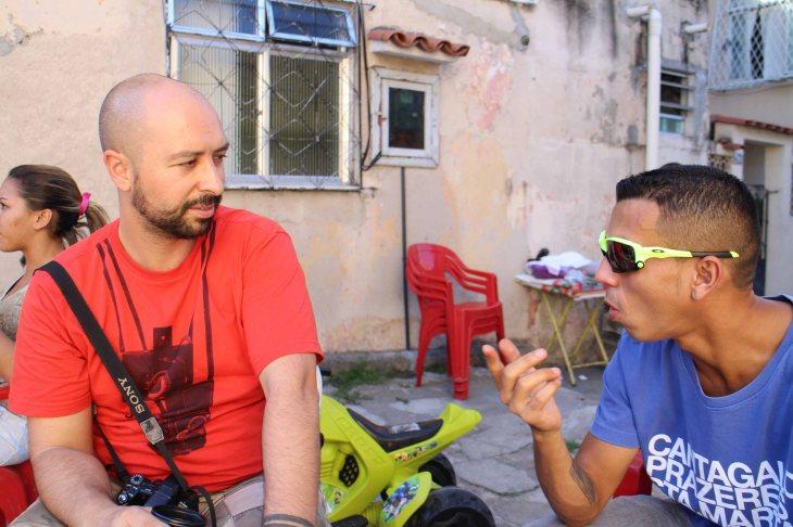 Dhani Borges y Bruno Itán, fundadores del Fotoclube do Alemão
